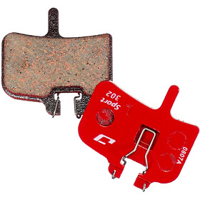 Jagwire Disc Sport Brake Pads Semi-Metallic for Hayes/HFX-9/Mag/MX1, red